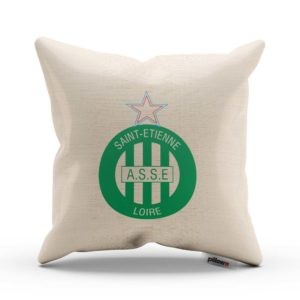 Vankúš s logom futbalového klubu AS Saint-Étienne
