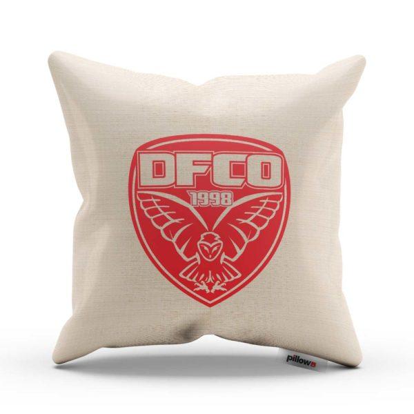 Vankúš s logom futbalového klubu Dijon FCO