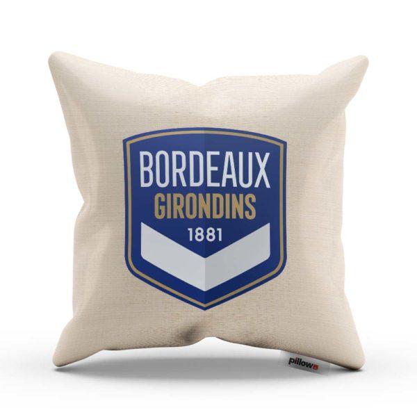 Vankúš s logom futbalového klubu FC Girondins de Bordeaux