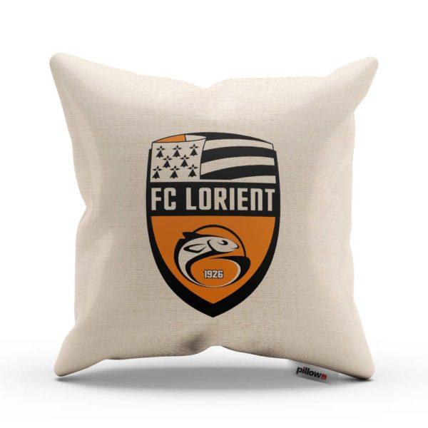 Vankúš s logom futbalového klubu FC Lorient