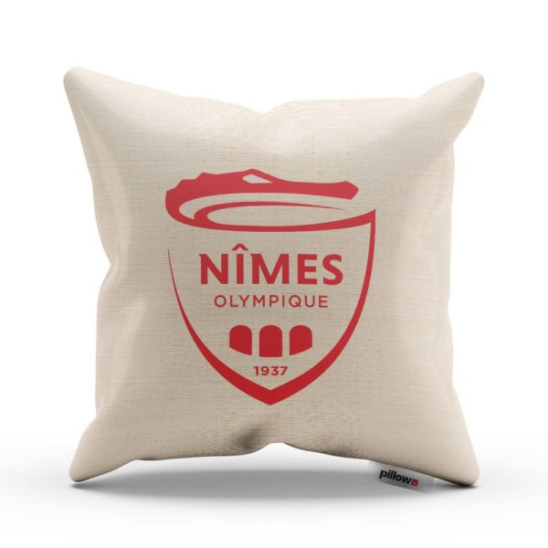 Vankúš s logom futbalového klubu Nimes Olympique