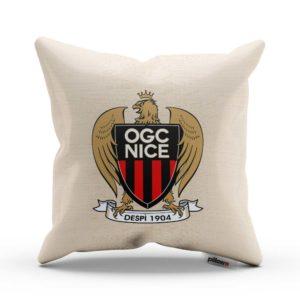 Vankúš s logom futbalového klubu OGC Nice