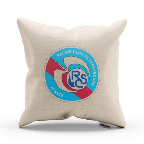 Vankúš s logom futbalového klubu RC Strasbourg Alsace