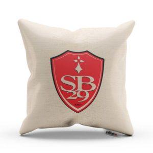 Vankúš s logom futbalového klubu Stade Brestois