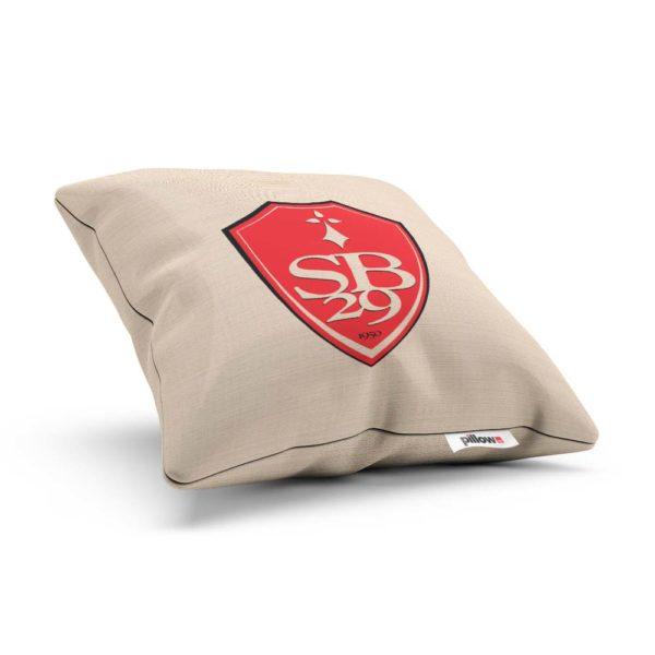 Vankúšik s logom futbalového tímu Stade Brest