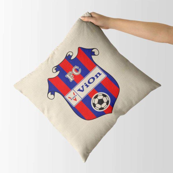 Dekoračný vankúš s logom FC ViOn Zlaté Moravce - Vráble