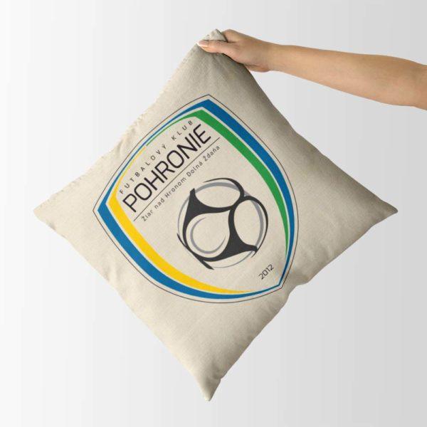 Dekoračný vankúš s logom FK Pohronie Žiar n.H. Dolná Ždaňa