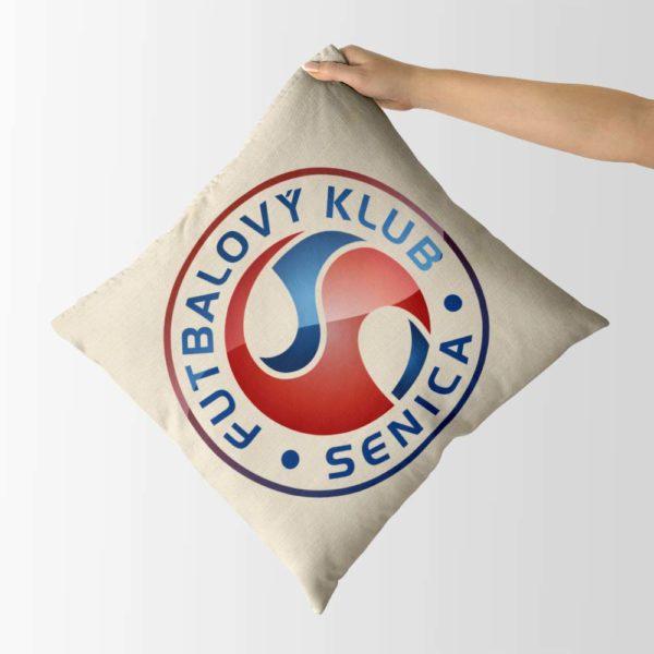 Dekoračný vankúš s logom FK Senica