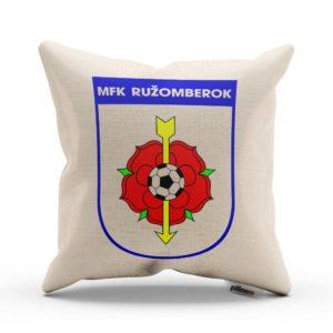 Vankúšik s logom futbalového klubu MFK Ružomberok