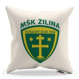 Vankúšik s logom futbalového klubu MŠK Žilina