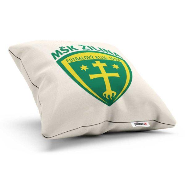 Vankúš s logom futbalového klubu MŠK Žilina