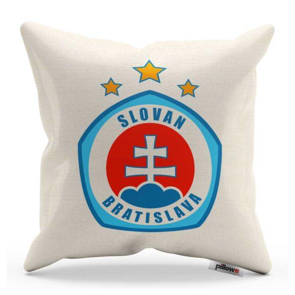 Vankúšik s logom futbalového klubu ŠK Slovan Bratislava