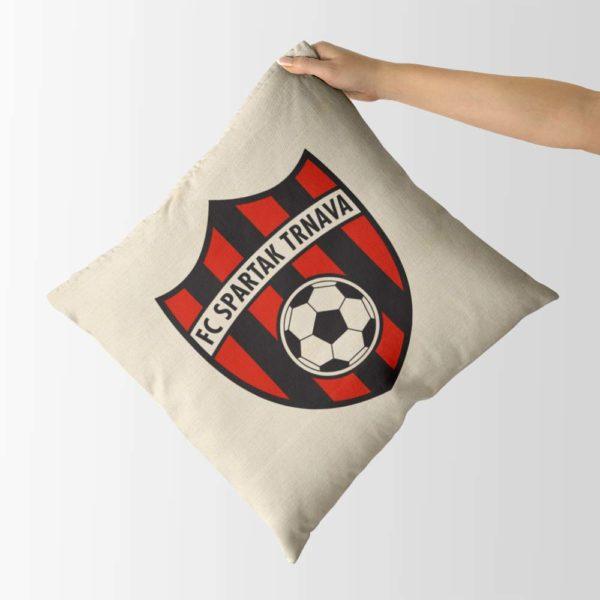 Dekoračný vankúš s logom FC Spartak Trnava