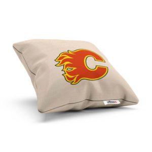 Vankúšik hokejového klubu Calgary Flames z NHL