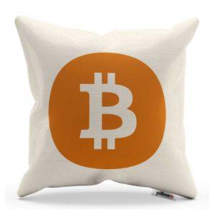 Originálny bavlnený vankúš Bitcoin pre každého fanúšika virtuálnych mien