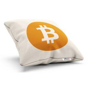Originálny bavlnený vankúšik Bitcoin pre každého fanúšika virtuálnej meny