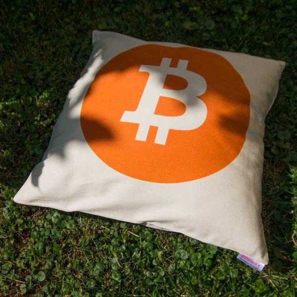 Kvalitný bavlnený vankúšik Bitcoin pre fanúšika virtuálnej meny
