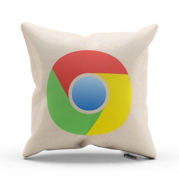 Päť farebný dekoračný vankúšik Google Chrome ozdobí vašu pohovku a aj pri oddychu na ňom môžete ďalej surfovať