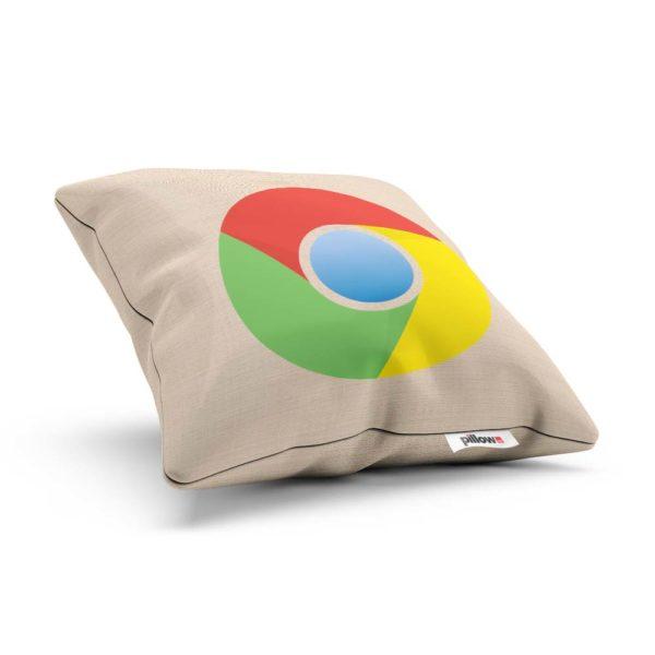 Bavlnený dekoračný vankúšik s logom Google Chrome ozdobí vašu pohovku a aj pri oddychu na ňom môžete ďalej surfovať