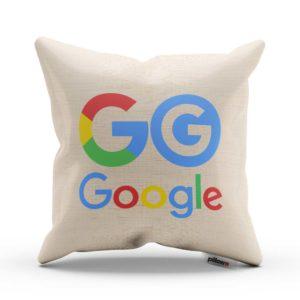 Vankúš s farebným logom Google z bavlny