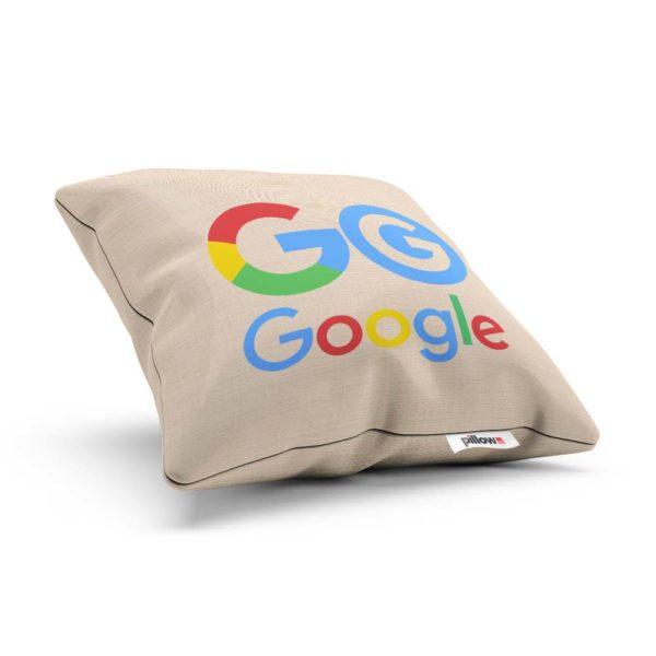 Vankúšik pre fanúšikov Google s farebným logom