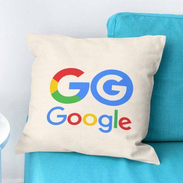 Vankúšik pre priaznivcov Google s moderným logom