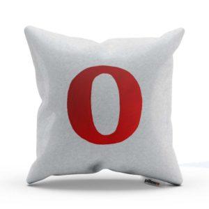 Vankúš Opera s minimalistickým dizajnom v kombinácii bielej a červenej farby je skvelou dekoráciou
