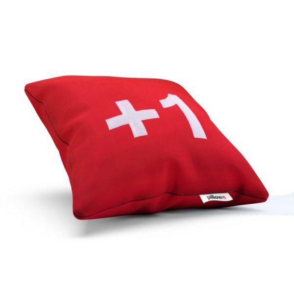Červený vankúš Google do každej detskej izby aby bol spánok krajší