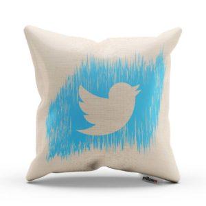 Vankúš s logom Twitter Vtáčik pre každého správneho geeka ušitý len z tých najlepších materiálov