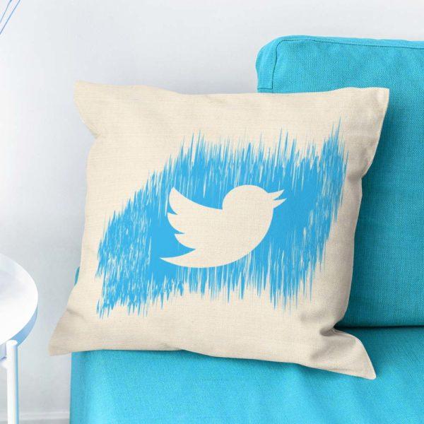 Bavlnený vankúš Twitter milo prekvapí ako darček každého fanúšika internetu
