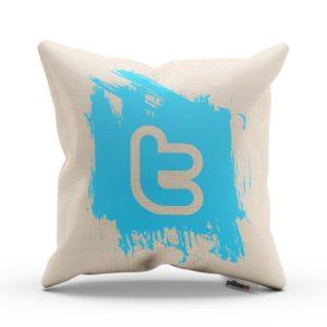 Vankúš s logom Twitter pre každého správneho geeka ušitý z kvalitnej bavlny