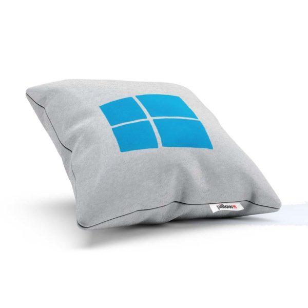 Vankúšik s logom Windows v bielo modrej kombinácii doplnok do každého IT officu