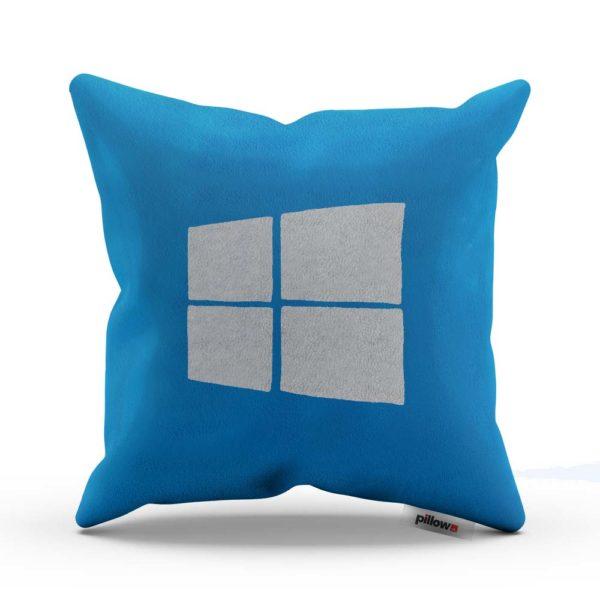 Modrý vankúšik s bielym logom Windows pre každého milovníka tohto operačného systému