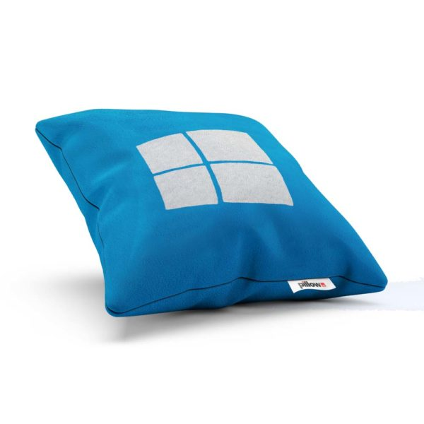 Štýlovo zladený vankúš Windows s modrým alebo bielym pozadím