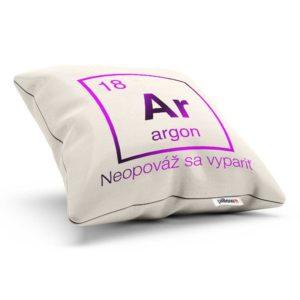Vankúšik s chemickým prvkom Argón a nadčasovým odkazom