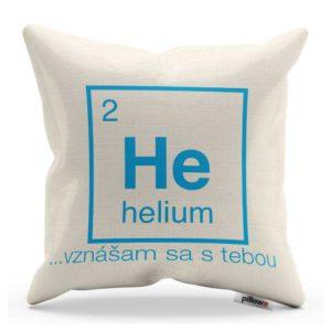 Vtipný darček vankúš s periodickým prvkom Helium