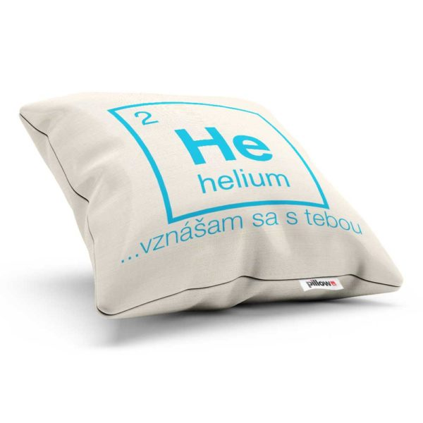 Vankúšik z periodickej tabuľky chemických prvkov Helium