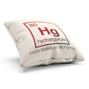 Vankúšik s tajomným odkazom a chemickým prvkom Hydrargyrum