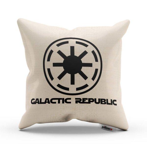 Galactic Republic zo ságy Star Wars na ručne šitom vankúšiku