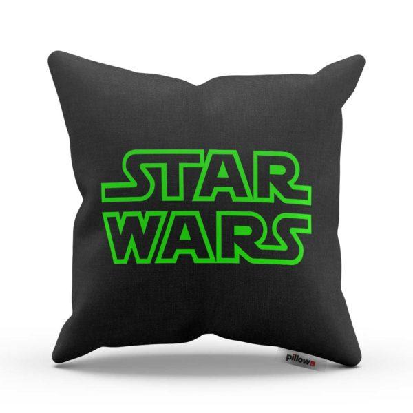 Čierny vankúš Star Wars s DTG potlačenou obliečkou