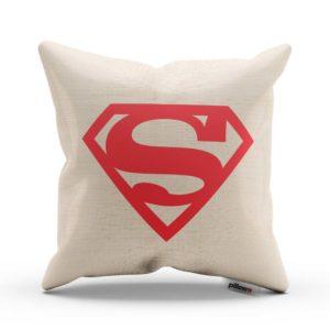Biely vankúš Superman s digitálnou potlačou DTG