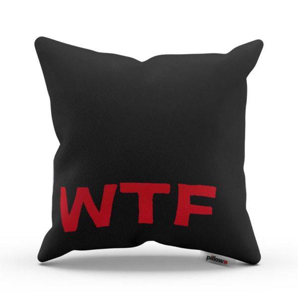 Ostrejší darček pre odvážnych s nápisom WTF tentokrát v čiernej farbe