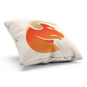 Znamenie horoskopu býk v oranžovej farbe na bavlnenom podklade vankúša