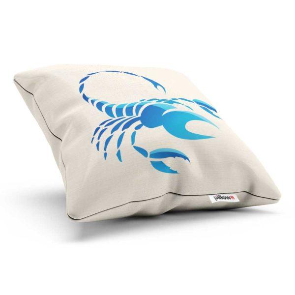 Vankúš so znamením škorpión ušitý z kvalitnej bavlny